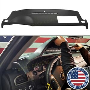 For 07-14 Chevy Tahoe Suburban Yukon Avalanche Dash Cover Cap Skin Overlay Bezel Black