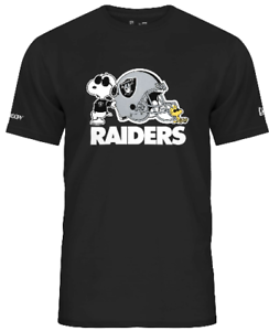 Las Vegas Raiders T-Shirt Snoopy NFL Football New Era Peanuts Woodstock XL