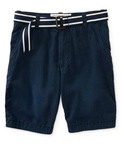 AERO Aeropostale Mens Belted Classic Shorts 27,28,29,30,31,32,33,34,36,38,40,42