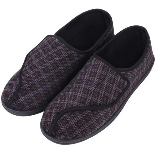 Longbay Men/'S Memory Foam Diabetic Slippers Comfy Warm Plush Fleece Arthritis Ed