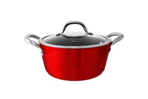 Jomafe Piment Rouge 20 cm Casserole Pot Avec Couvercle Antiadhésif lourd induction toutes les plaques