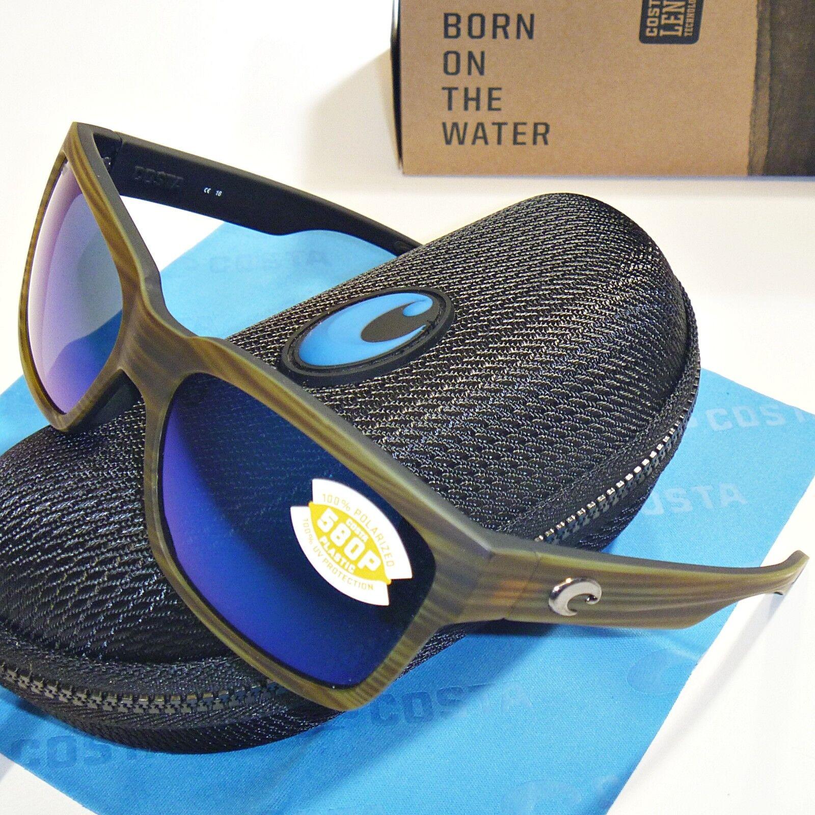 Costa Del Mar Playa Playa Playa Polarisierend Sunglasses-Matte Grün Teakholz   Blau Spiegel       Großer Räumungsverkauf  7c8c1a