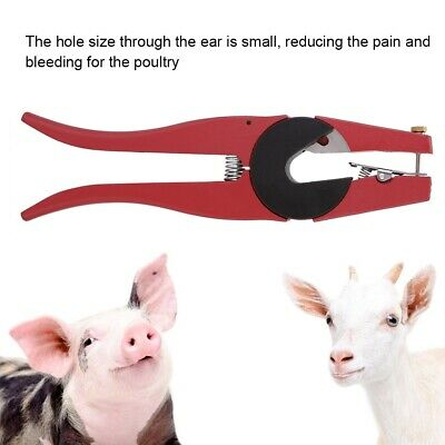 Animal Numbers Ear Tags Tag Plier Applicator Puncher Marker for Dairy Farm