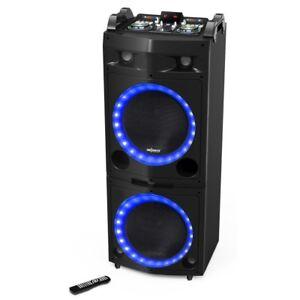 ALTAVOZ TORRE DJ INALAMBRICO BLUETOOTH 300W MANDO MICROFONO LED USB GARANTIA