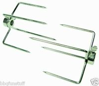 Rotisserie 4 Prong Meat Forks 5/16 (2) 2.25 X 1.75 Gas Or Charcoal Grills