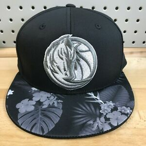 Dallas-Mavericks-NBA-Basketball-Adidas-Stretch-Fit-S-M-Hat-Hawaiian-Cap-NWT-Blk