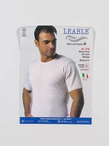 Maglia-uomo-Leable-416-a-manica-corta-in-misto-lana-vergine-Taglie-7-8
