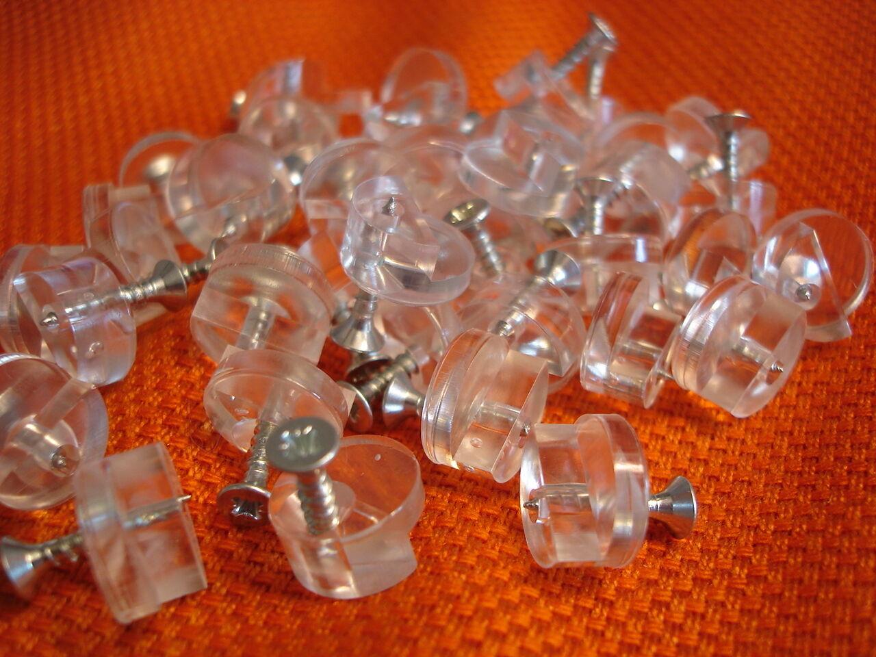 Spiegelhalter Glasklemme Kunststoff für 4 mm Glas Spiegel Montage Frei Haus TOP