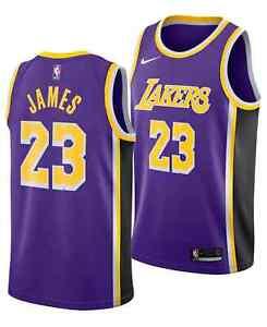 NIKE Men LeBron James #23 Lakers Swingman Jersey AA7097 514 - 3XL(60) New