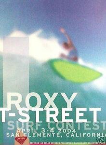 *Original* ROXY T-STREET San Clemente 2004 WOMEN'S SURF CONTEST POSTER