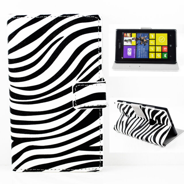 Leather Slots Card Stand Protective Wallet Flip Pouch Cover Case For Nokia Lumia