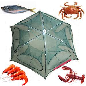 Fish-Shrimp-Minnow-Dip-Cage-Foldable-Fishing-Trap-Crab-Cast-Mesh-Baits-Net