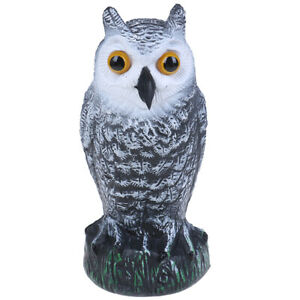 Large-Realistic-Owl-Decoy-Rotating-Head-Weed-Pest-Control-Crow-Scarecrow-LDUK