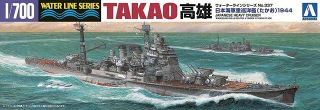 Aoshima Waterline 45367 IJN Japanese Heavy Cruiser TAKAO kit 1/700 scale