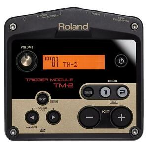 roland tm 2 acoustic drum trigger module 761294504352 ebay. Black Bedroom Furniture Sets. Home Design Ideas
