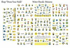 Nail Stickers 11pcs Set Cartoons MINIONS Water Decals Transfers DESPICABLE ME