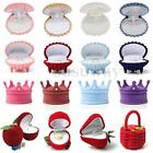Velvet Jewelry Ring Earring Display Organizer Box Storage Gift Jewellery Case