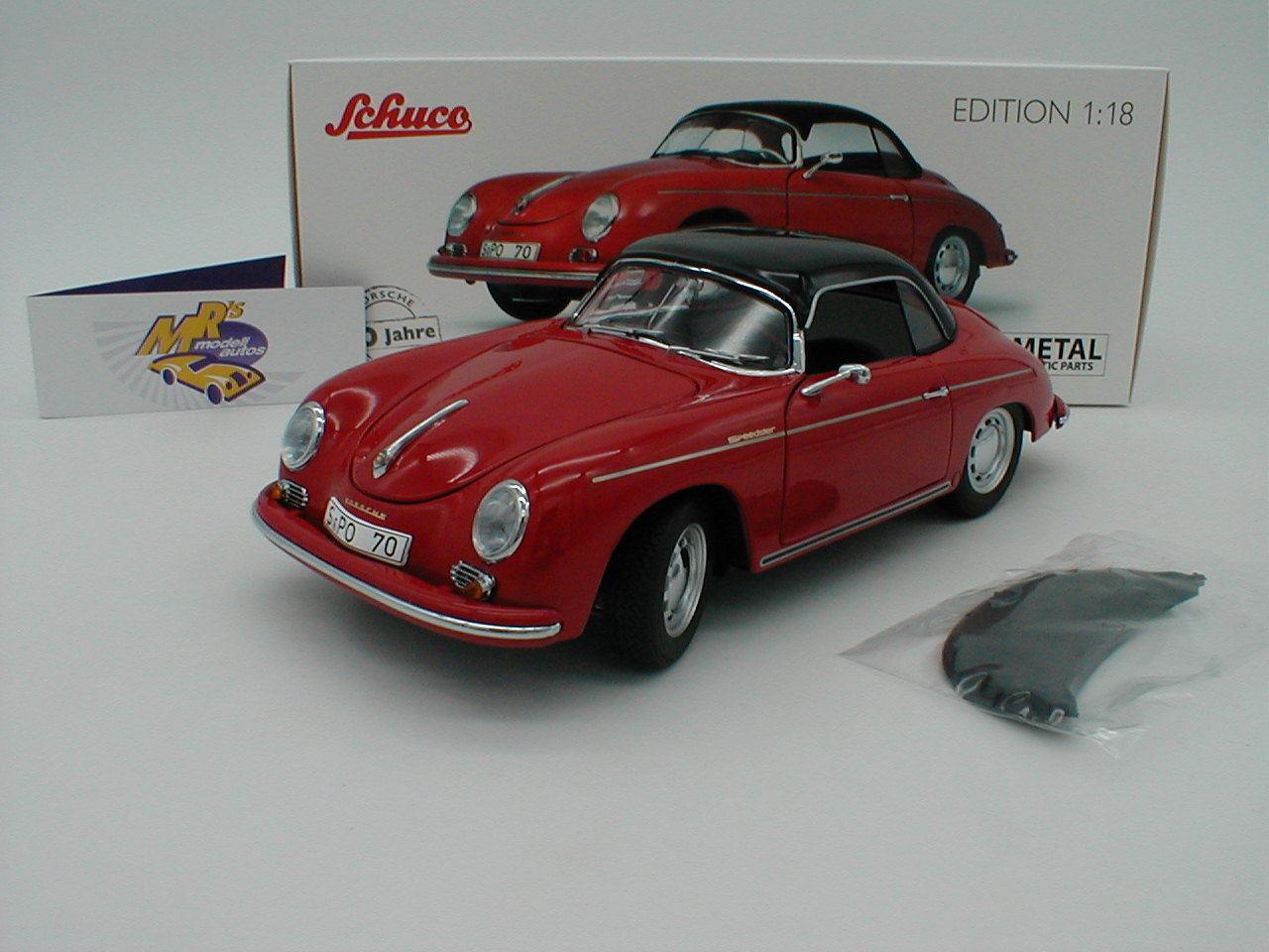 Schuco 00313 - Porsche Porsche Porsche 356 A Carrera Speedster Baujahr 1953 in   red   1 18 NEU 63cc57