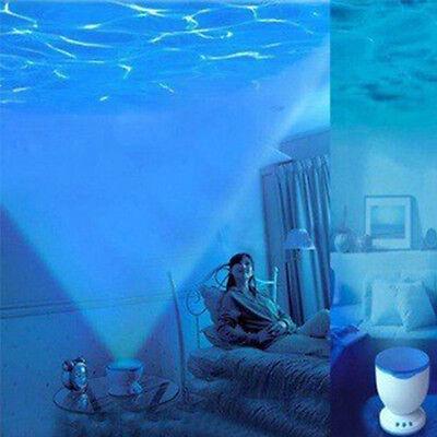 Romantic Ocean Waves Projector Light Daren Waves Night Light Speaker Lamp 12 LED