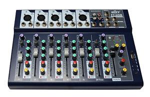 6-7-Melangeur-de-CANAUX-TABLE-DE-MIXAGE-DJ-PA-mixeur-livemischer-Fete-Disco-USB-mp3