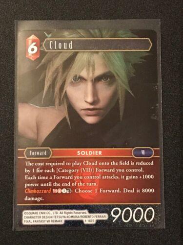 Fire Final Fantasy TCG: Opus 1 Foil Structure Card Cloud 1-187S