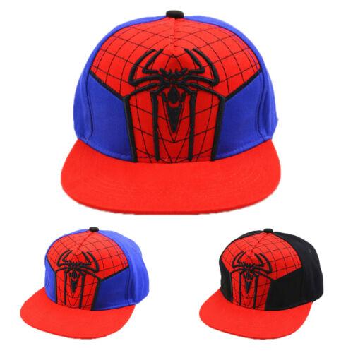 Boys Kids Spiderman Baseball Cap Toddler Children Hip Hop Snapback Visor Sun Hat