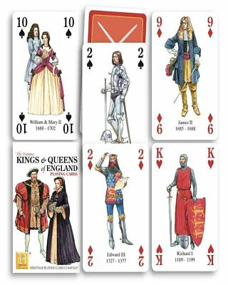 hpc jokers Kings and Queens of England set of 52 playing cards