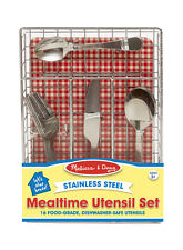 Melissa & Doug Food Safe - Stainless Steel Mealtime Utensil Set For Kids!  9347