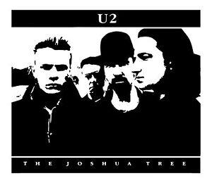 U2 The Joshua Tree Album Wall Art Rock Bono Free Squeegee ...