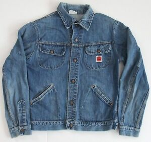 Vintage-GWG-Kings-Denim-Jean-Jacket-Size-38-Large-Snaps-See-Measurements