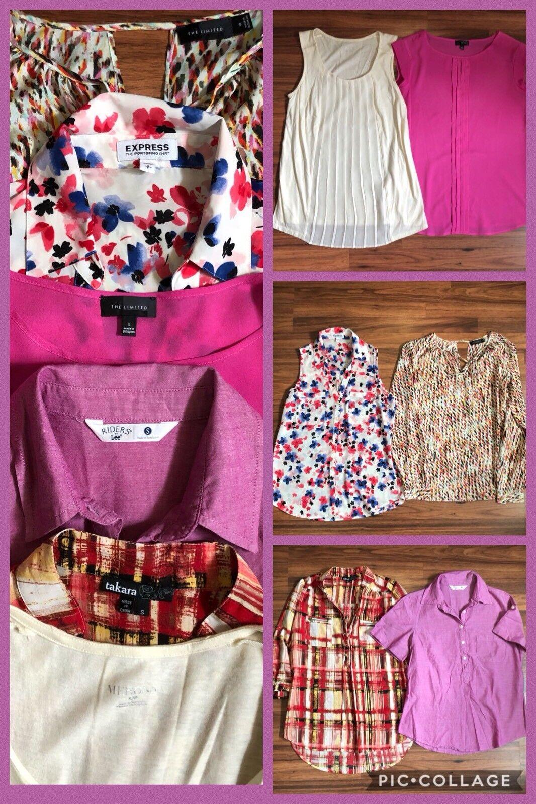 LOT 6 Women's Dress Career Tops The Limited Express Merona Lee Takara Size S