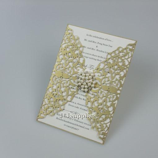 220-Personalized Printing Wedding Invitations Cards Damask Bridal Invites