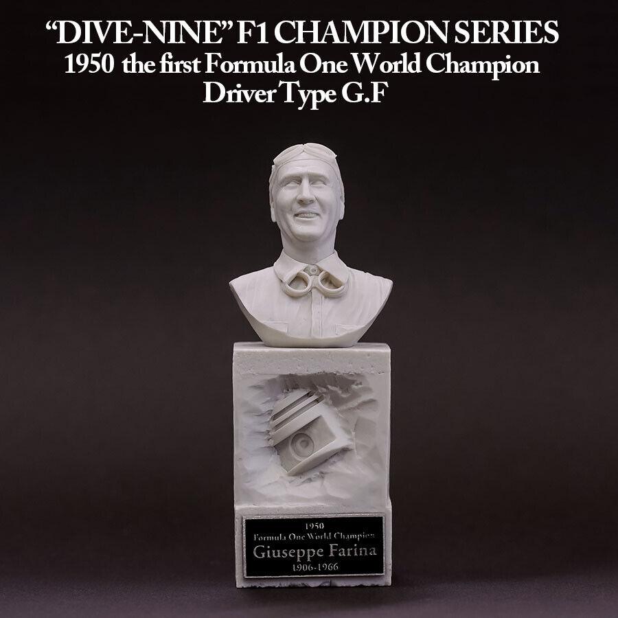 1  12 skala Giuseppe Farina Formula 1 Champion hkonstsgjutmodelllllerl byst av Dive Nine