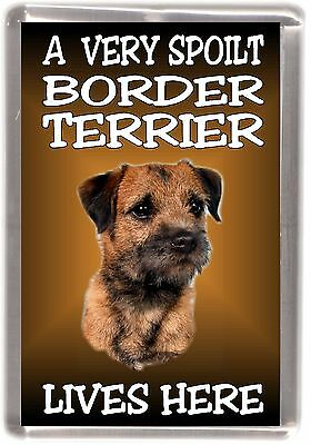 Illustrated Border Terrier Dog Fridge Magnet
