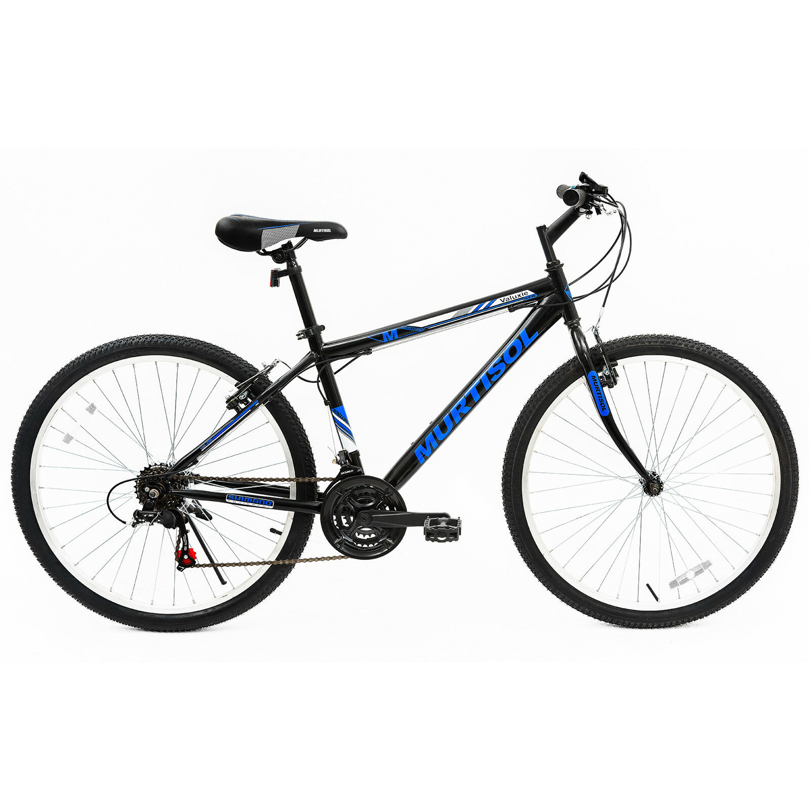 Kenwell 26'' Mountain Bike Bicycle 18 Speed Front Suspension Hybrid Bike Shimano