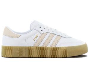 adidas-Originals-SAMBAROSE-W-Damen-Sneaker-DB3598-Leder-Weiss-Schuhe-Turnschuhe