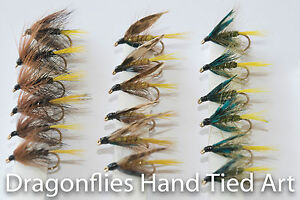 18-Wet-Fly-Fishing-Kate-McLaren-Invicta-amp-Olive-Bumble-by-Dragonflies