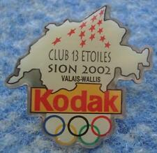 OLYMPIC SION 2002 CANDIDATE CITY KODAK SPONSOR PIN BADGE