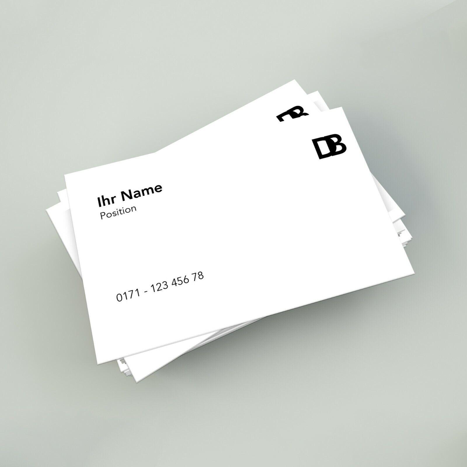500 Visitenkarten Drucken Einseitig Oder Beidseitig Farbig