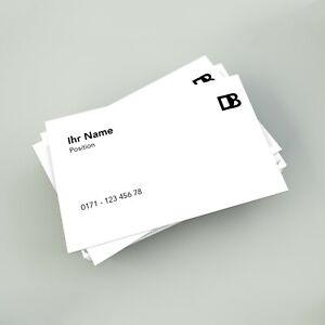 Details Zu 500 Visitenkarten Drucken Einseitig Oder Beidseitig Farbig Offsetdruck