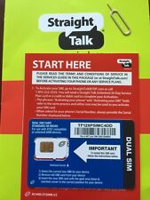 Straight Talk AT&T Standard & Micro Dual Size SIM Card for BYOP W LTE 4G