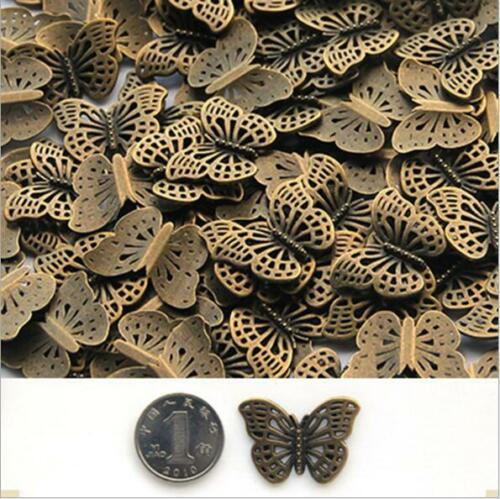 Wholesale 20Pcs Handmade DIY Jewelry Accessories Alloy Bronzite Butterfly AE3792