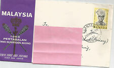 MALAYSIA PERTABALAN STAMP ON COMMEMORATIVE F.D.COVER-  PAHANG 1966