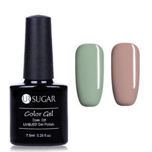 2Flaschen-Set-Serie-Soak-Off-Nail-Art-UV-Gel-Nagellack-Tipps-UR-SUGAR-7-5ml