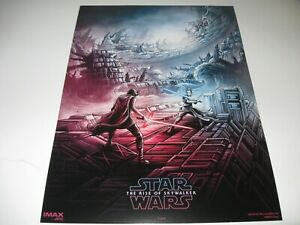 Star Wars The Rise Of Skywalker Amc Imax Poster 1 Week 1 Rey Vs Kylo Ren New Ebay