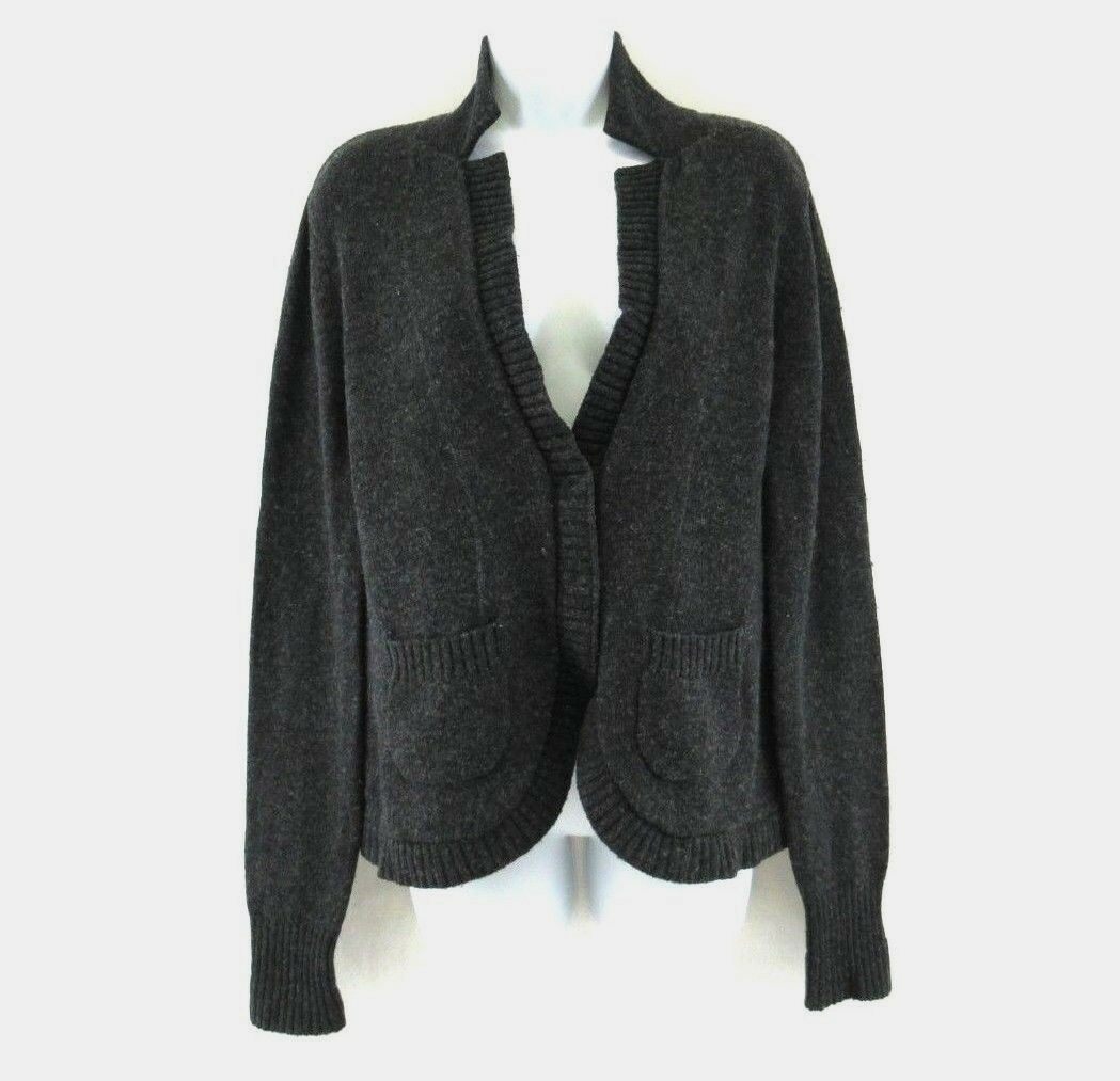 CHELSEA & THEODORE 100% CASHMERE Snap Button Sweater Cardigan Size L  KK523