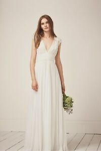French-Connection-PALMERO-EMBELLISHED-WEDDING-DRESS-UK-8-EUR-XS-US-4-NEW