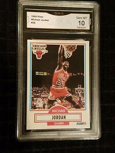 GEM-MINT-10-1990-1991-Fleer-Michael-Jordan-26-Chicago-Bulls-HOF-psa