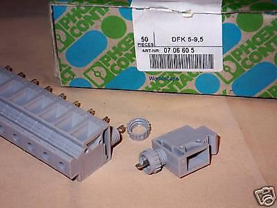 1x PHOENIX CONTACT Typ DFK 4-SI 380V~//6,3A Sicherungshalter Sicherung 5x20 BU12