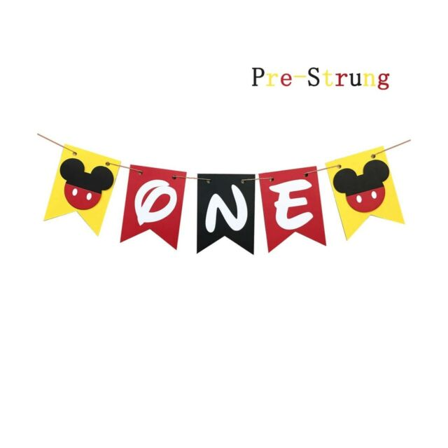 1st Birthday Mickey Mouse Letter Banner Kit 2pc Set